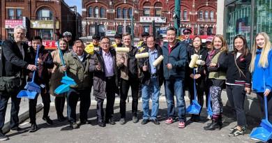 多倫多華埠商業促進區率領志工美化唐人街