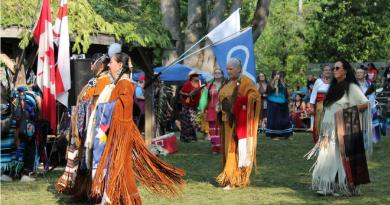 印第安人的线舞集会